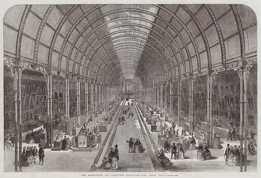 The Manchester Art-Treasures Exhibition, the Great Hall. Illustration for The Illustrated London News, 30 May 1857.