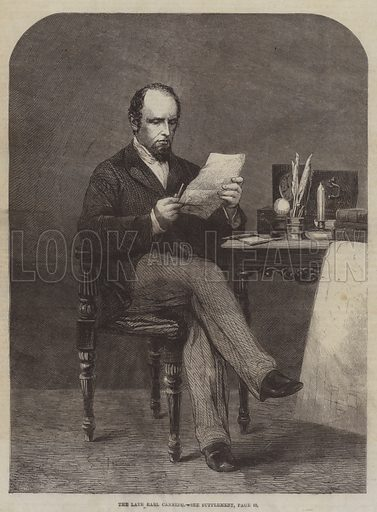 The late Earl Canning. Illustration for The Illustrated London News, 5 July 1862.