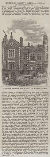 Middlesex Society's National Schools, St George's-in-the-East. Illustration for The Illustrated London News, 5 July 1862.
