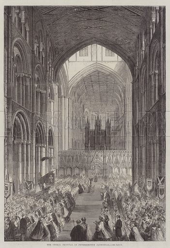The Choral Festival in Peterborough Cathedral. Illustration for The Illustrated London News, 12 July 1862.