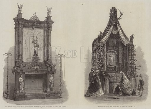 The International Exhibition. Illustration for The Illustrated London News, 12 July 1862.