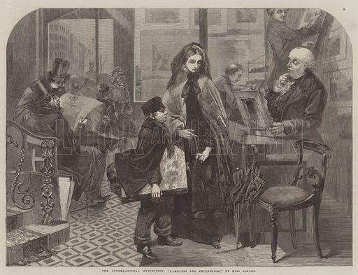 "The International Exhibition, ""Nameless and Friendless"". Illustration for The Illustrated London News, 12 July 1862."