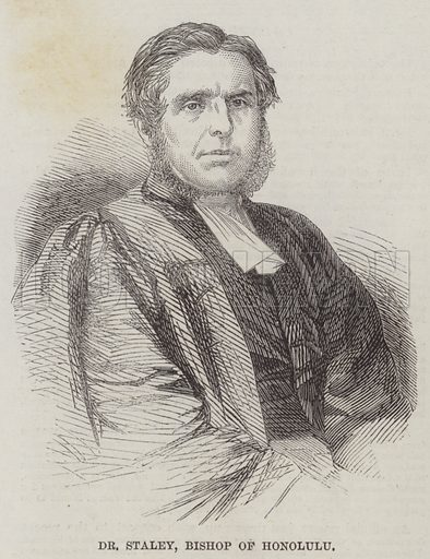 Dr Staley, Bishop of Honolulu. Illustration for The Illustrated London News, 16 August 1862.
