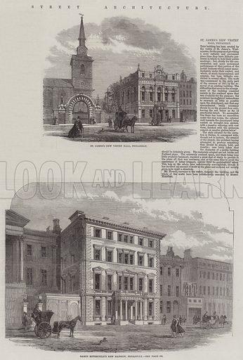 Street Architecture. Illustration for The Illustrated London News, 6 September 1862.