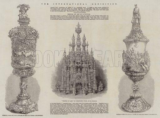 The International Exhibition. Illustration for The Illustrated London News, 1 November 1862.