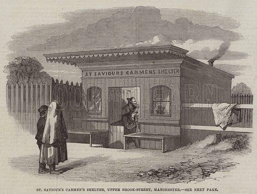 St Saviour's Cabmen's Shelter, Upper Brook-Street, Manchester. Illustration for The Illustrated London News, 6 December 1862.