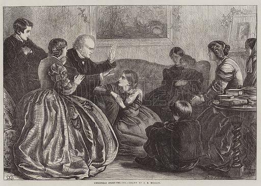 Christmas Story-Telling. Illustration for The Illustrated London News, 20 December 1862.
