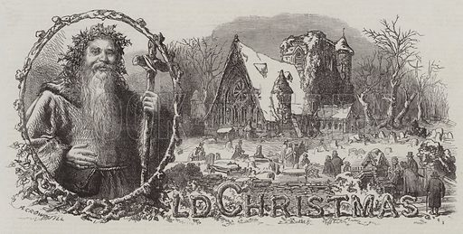 Old Christmas. Illustration for The Illustrated London News, 20 December 1862.