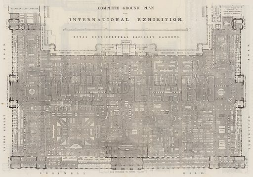 Complete Ground Plan of the International Exhibition. Illustration for The Illustrated London News, 13 September 1862.