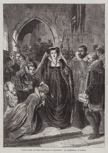 Mary, Queen of Scots being led to Execution. Illustration for The Illustrated London News, 3 January 1863.