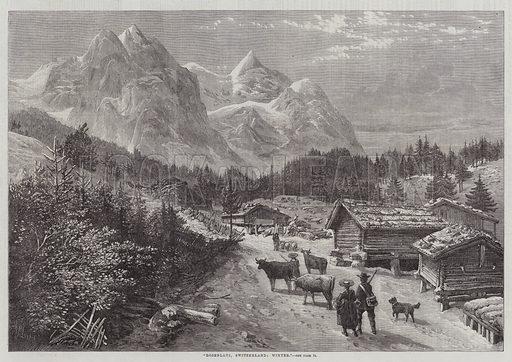 Rosenlaui, Switzerland, Winter. Illustration for The Illustrated London News, 17 January 1863.