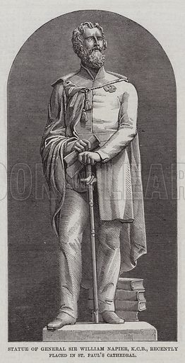 Statue of General Sir William Napier, KCB, recently placed in St Paul's Cathedral. Illustration for The Illustrated London News, 17 January 1863.