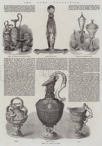 The Loan Collection. Illustration for The Illustrated London News, 17 January 1863.