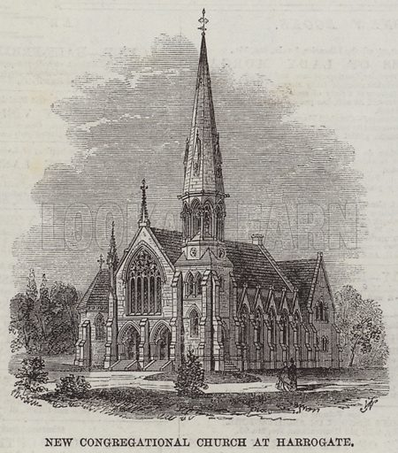 New Congregational Church at Harrogate. Illustration for The Illustrated London News, 7 February 1863.