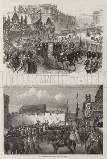 Wedding of the Prince of Wales and Alexandra of Denmark. Illustration for The Illustrated London News, 21 March 1863.