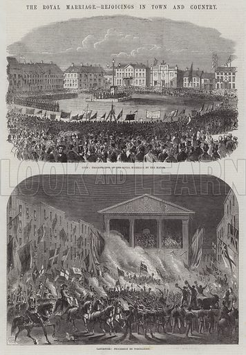 Wedding of the Prince of Wales and Alexandra of Denmark. Illustration for The Illustrated London News, 4 April 1863.