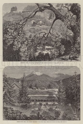 Sketches of Simla. Illustration for The Illustrated London News, 25 April 1863.