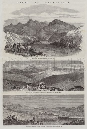 Views in Madagascar. Illustration for The Illustrated London News, 2 May 1863.