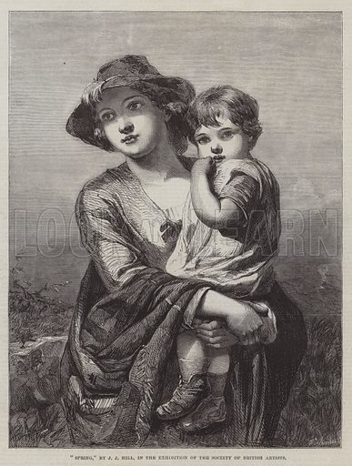 """""""Spring,"""" in the Exhibition of the Society of British Artists. Illustration for The Illustrated London News, 9 May 1863."""