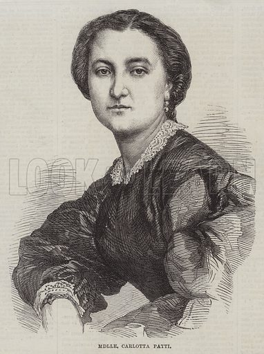 Mademoiselle Carlotta Patti. Illustration for The Illustrated London News, 9 May 1863.