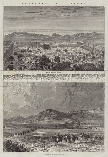 Sketches of Herat. Illustration for The Illustrated London News, 13 June 1863.