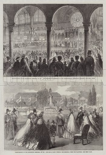 Inauguration of the Exhibition Memorial of 1851. Illustration for The Illustrated London News, 20 June 1863.