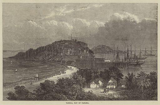 Taboga, Bay of Panama. Illustration for The Illustrated London News, 11 January 1868.