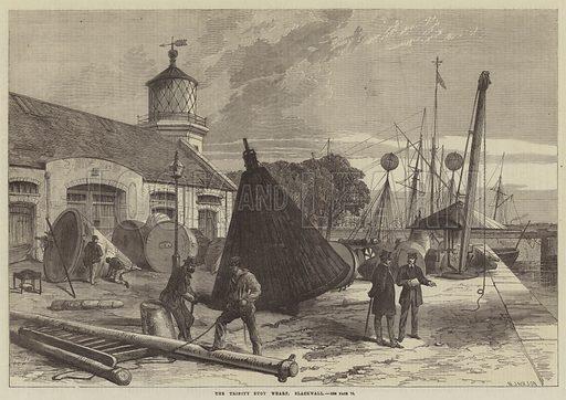 The Trinity Buoy Wharf, Blackwall. Illustration for The Illustrated London News, 18 January 1868.
