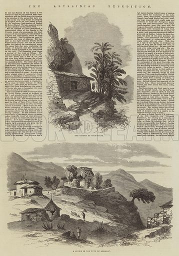 The Abyssinian Expedition. Illustration for The Illustrated London News, 21 March 1868.