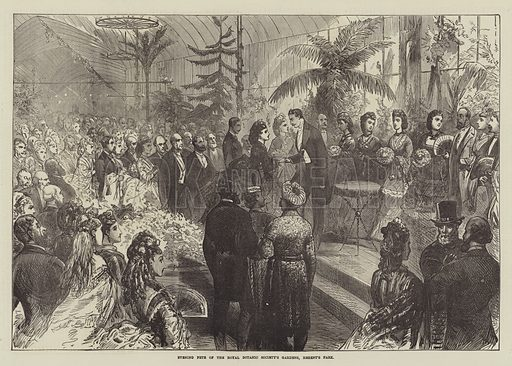 Evening Fete of the Royal Botanic Society's Gardens, Regent's Park. Illustration for The Illustrated London News, 20 July 1872.