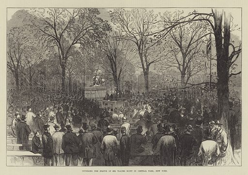Unveiling the Statue of Sir Walter Scott in Central Park, New York