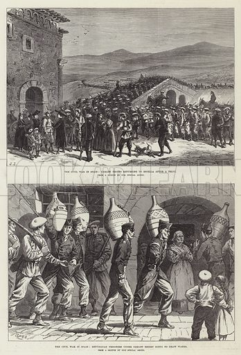 The Civil War in Spain. Illustration for The Illustrated London News, 31 October 1874.