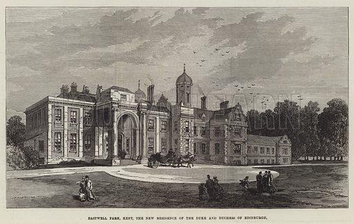 Eastwell Park, Kent, the New Residence of the Duke and Duchess of Edinburgh. Illustration for The Illustrated London News, 14 November 1874.
