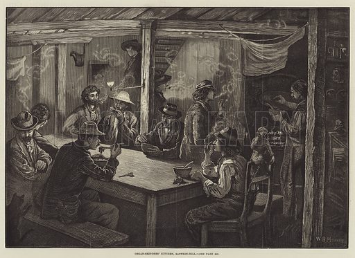 Organ-Grinders' Kitchen, Saffron-Hill. Illustration for The Illustrated London News, 14 May 1881.