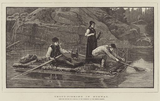 Trout-Fishing in Norway, in the Exhibition at the French Gallery
