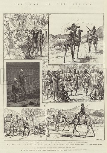 The War in the Soudan. Illustration for The Illustrated London News, 4 April 1885.