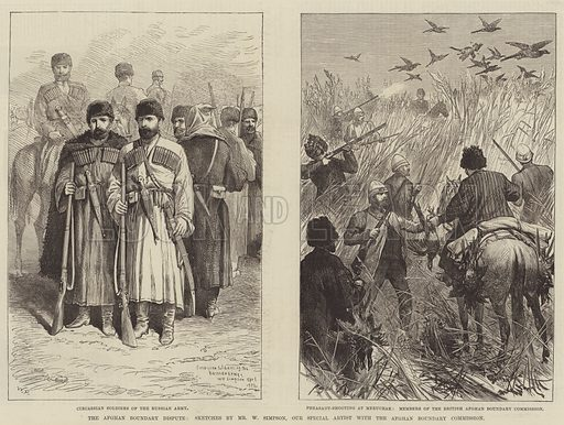 The Afghan Boundary Dispute. Illustration for The Illustrated London News, 9 May 1885.