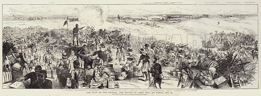 The War in the Soudan, the Battle of Abou Kru, or Gubat, 19 January. Illustration for The Illustrated London News, 7 March 1885.