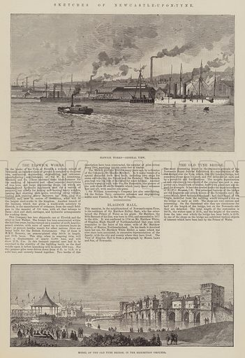 Sketches of Newcastle-upon-Tyne. Illustration for The Illustrated London News, 16 July 1887.