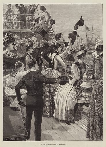 At the Queen's Jubilee Naval Review. Illustration for The Illustrated London News, 30 July 1887.