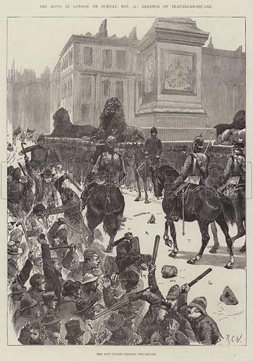 The Riots in London on Sunday, 13 November, Defence of Trafalgar-Square