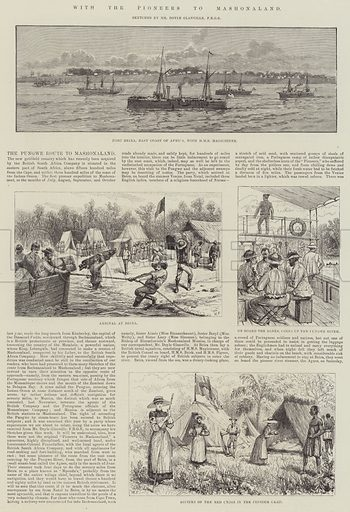 With the Pioneers to Mashonaland. Illustration for The Illustrated London News, 15 August 1891.