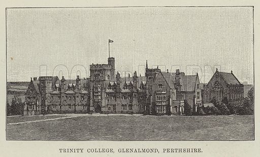 Trinity College, Glenalmond, Perthshire. Illustration for The Illustrated London News, 3 October 1891.