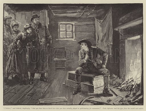 Their Uncle from California, by Bret Harte. Illustration for The Illustrated London News, Christmas Number 1891.
