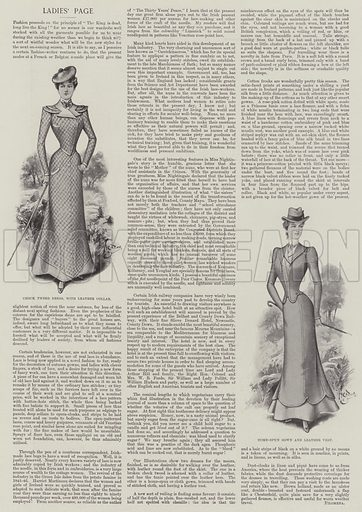 Ladies' Page. Illustration for The Illustrated London News, 19 August 1899.