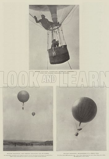 Military Ballooning. Illustration for The Illustrated London News, 7 October 1899.