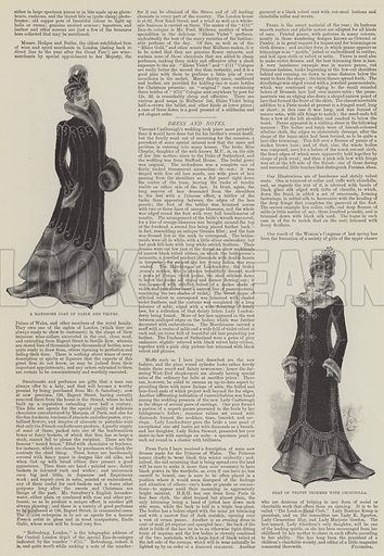 Ladies' Pages. Illustration for The Illustrated London News, 9 December 1899.