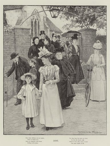 1899. Illustration for The Illustrated London News, Christmas Number 1899.