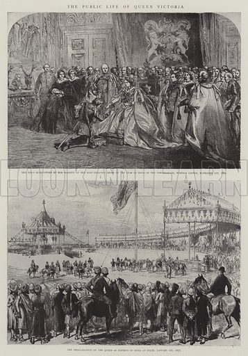 The Public Life of Queen Victoria. Illustration for The Illustrated London News, 1901.