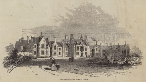 The Shropshire New Lunatic Asylum. Illustration for The Pictorial Times, 21 February 1846.